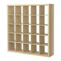 5x5 EXPEDIT (now KALLAX) shelving unit by IKEA (birch color)
