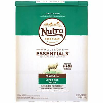 Premium Nutro Wholesome Essentials Natural Adult Dry Dog Food Lamb & Rice 30 lb.