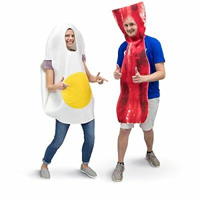 Bacon & Egg Breakfast Adult Couple's Halloween Party Role Play & Cosplay Costume - Couple Cosplay Costumes