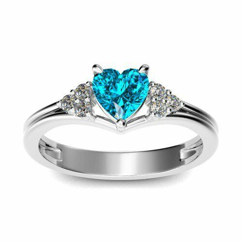 Love Heart Ring Silver 925 Sterling Promise Band Cz New Infinity Heart Sizes 6-9 Fashion Jewelry