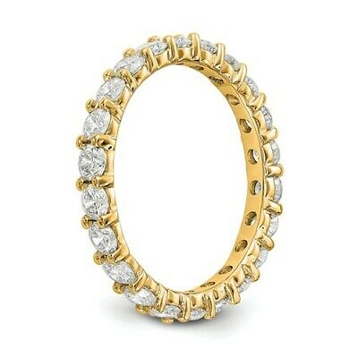 Charming 2.00 Ctw Round Cut Natural Diamond Eternity Band H SI2