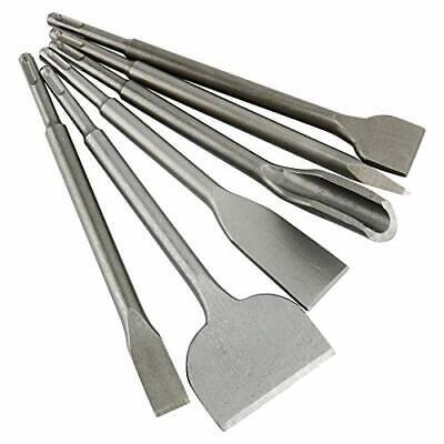 Sds Plus Wide Chisel - 6pcs  SDS Plus Tile Chisel Gouge Chisel Wide Chiselx2, Flat Chisel, Point Chisel