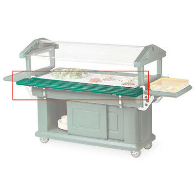 Salad Bar Tray Rail 71-12 Wide For Standard And Youth Bars Black