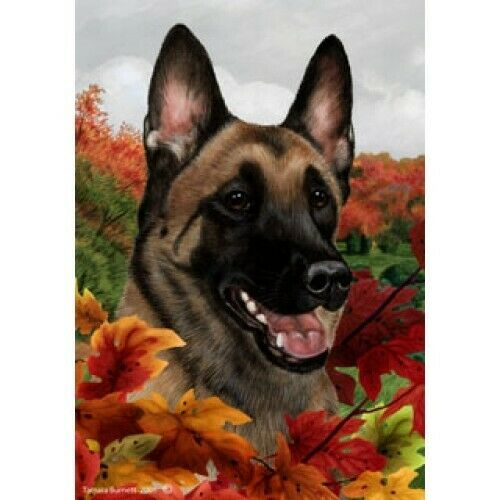 Fall House Flag - Belgian Malinois 13251