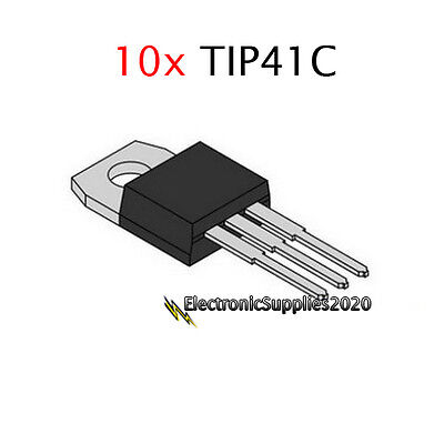 Tip41c Tip41 Power Transistor Npn 100v 6a By St Usa Fast Shipping