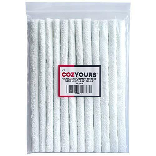 Cozyours Replacement Fiberglass Wicks (12-Pack, 1/2 х 9.85 Inches), Wicks for