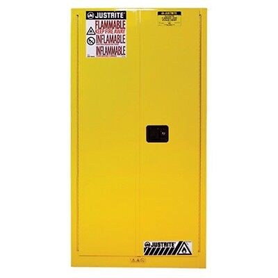Justrite 60 Gal Safety Cabinet - Justrite 60 Gallon Safety Cabinet 2 Door Self-Closing Lever Handle 896020