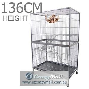 Bird  Cage 3 Level Hamster Budgie Pet Aviary With Wheels Sydney City Inner Sydney Preview