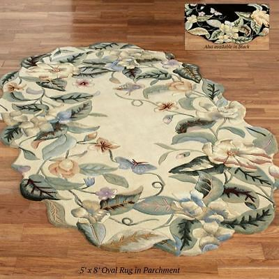 Magnolia Butterfly Oval Rug](Butterfly Rug)