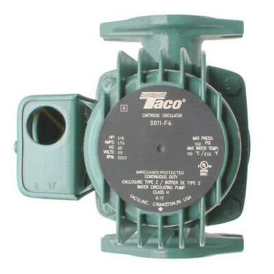 Brand New Taco 0011-f4 Cast Iron Cartridge Circulator Pump 18 Hp