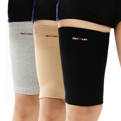 Thigh Compression Sleeve 1 Pair Hamstring Quad Groin Support Wrap Unisex Elastic