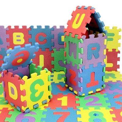 36pcs Unisex Mini Puzzle Kid Educational Toy Alphabet Letters Numeral Foam MatGX