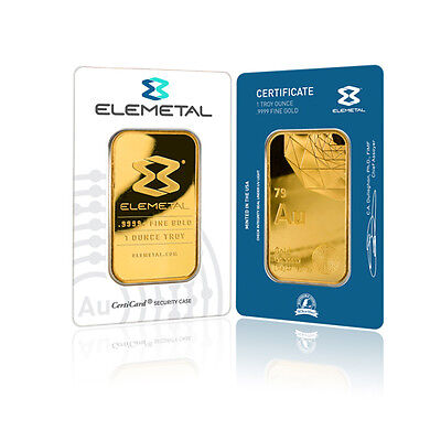 1 Troy Oz - 24 Karat Gold Bar – Elemetal