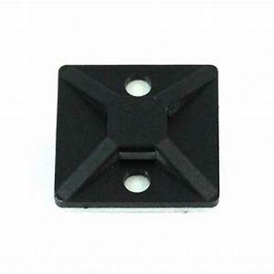 50 Pcs Black Adhesive Cable Tie Mount Clip 34 Inch .75 Zip Tie Holder Ctm-34