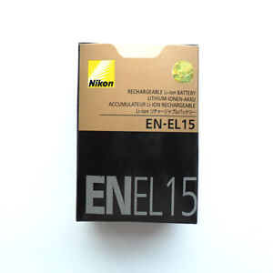 New EN-EL15 ENEL15 Battery For Nikon D7000 D800 E MB-D12 MB-D11 V1 D600