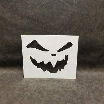 Halloween Font Stencils (Halloween Fall Pumpkin Face Mylar Stencil Art Airbrush reusable Durable)
