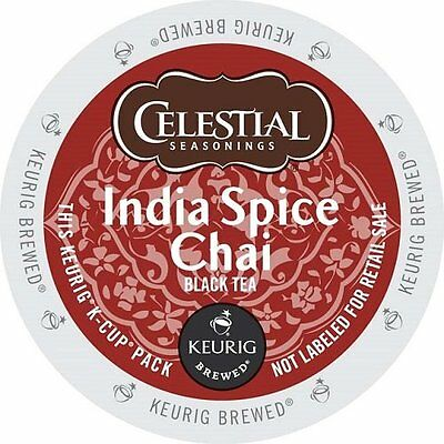 Celestial Seasonings India Spice Chai Tea Keurig K-Cups 24-Count