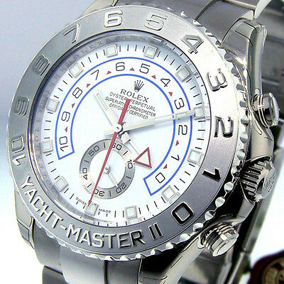 ROLEX YACHTMASTER ll 116689 18K WHITE GOLD WHITE DIAL