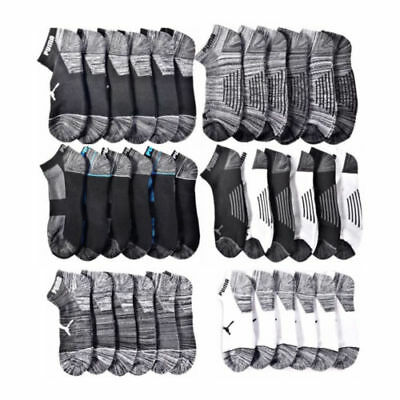 New with Tags Puma Men's 2-6 Pack (12 Pairs) Low Cut Athletic Sport Socks