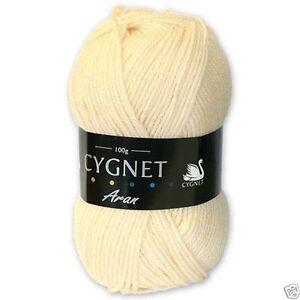Cygnet-Aran-Lavoro-A-Maglia-Filato-100g-100-Acrilico-288-Crema