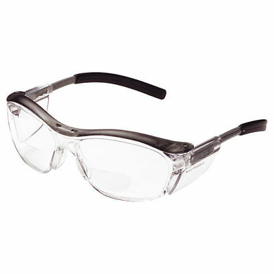 3M Nuvo Reader Protective Glasses 11434 Clear Lens Gray Frame +1.5 - M Reader