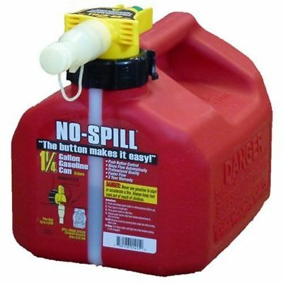 No-spill 1415 1-14-gallon Poly Gas Can Carb Compliant - 2 Pack