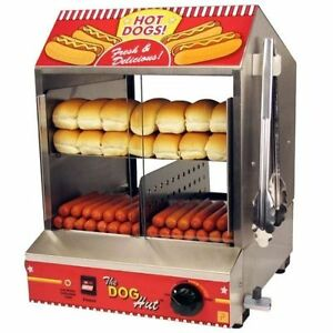 Commercial   HOT DOG MACHINE    Hotdog Steamer Machine + HOTDOG STICKER
