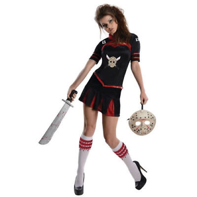 Jason Cheerleader Friday the 13th Adult Costume Halloween Rubies Sexy (Ladies Friday 13th Halloween Costume)