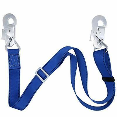 Fall Protection Lanyardsafety Adjustable Non-shock Absorbing Lanyard Blue