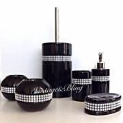 Black Diamante Bathroom