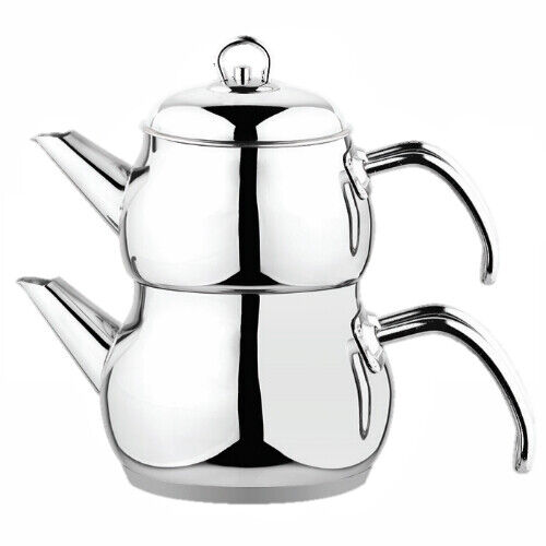 Teekanne Teekessel Kochset Wasser Teekocher Tee Türkisch Caydanlik Cay Tea Hot