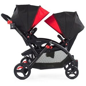 ContoursOptionsTandemStroller + car seatadapter +2winter shields