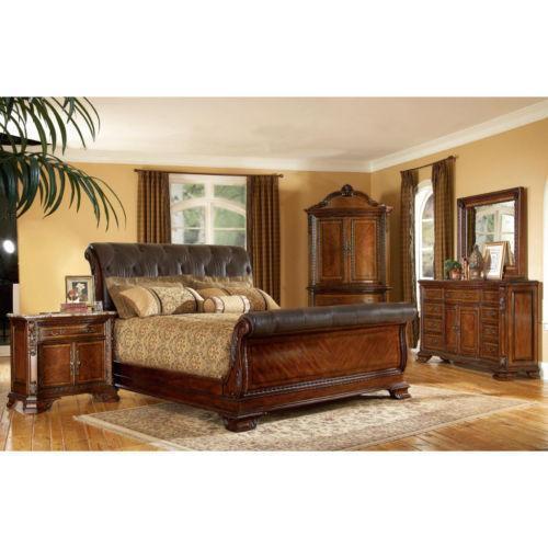 King Sleigh Bed Set Ebay