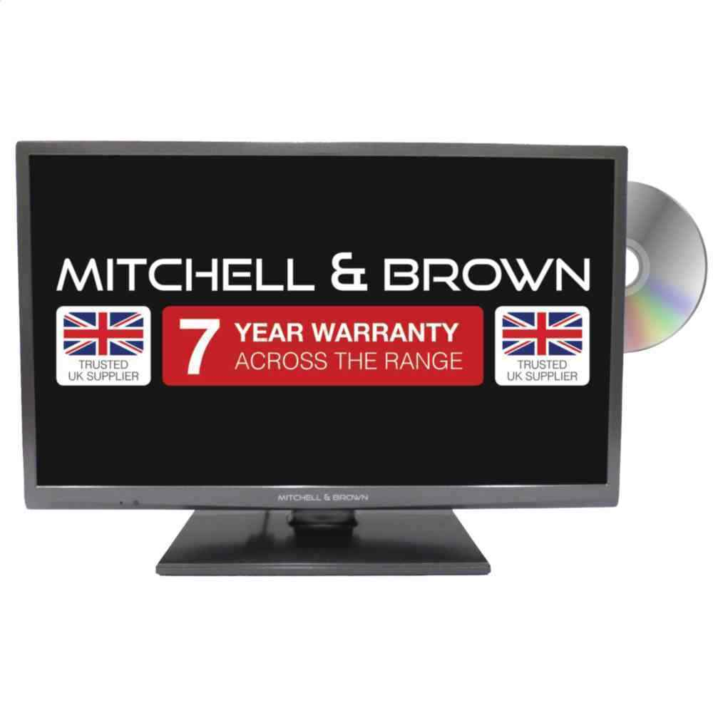 Mitchell & Brown TV, 24 Inch, Smart TV, LED, HD, TV & DVD Combi