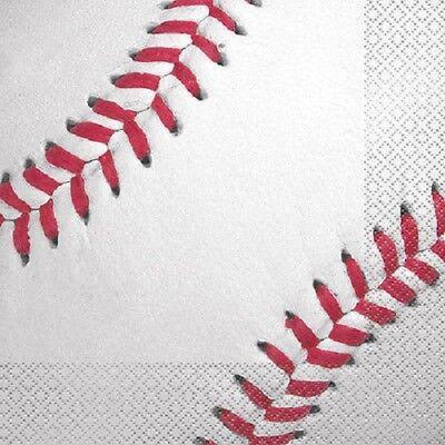 BASEBALL LUNCH NAPKINS (16) ~ Sports Birthday Party Supplies Serviettes MLB  - Baseball Napkins
