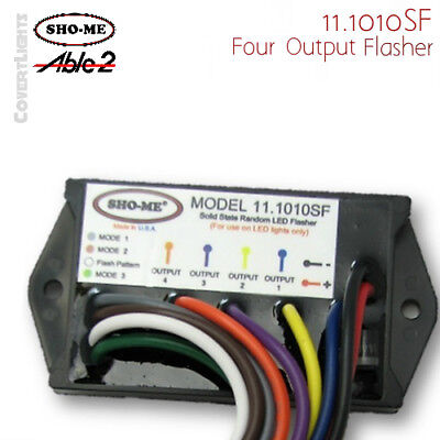 Sho-me 11.1010sf Led Flasher - 4 Output - 14 Flash Patterns - Made In Usa