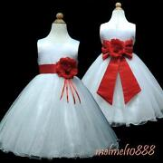 Red Wedding Flower Girl Dress