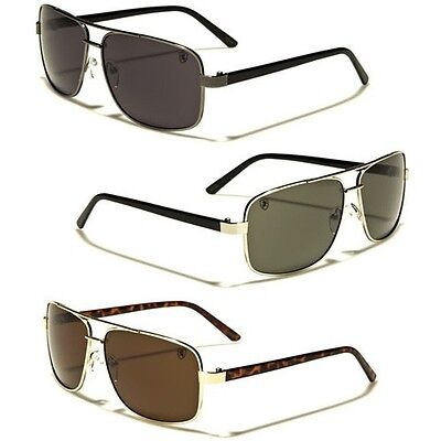 Square Retro 80S Aviator Sunglasses Khan Mens Womens Fashion Glasses Black Gold
