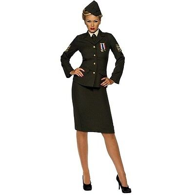 Ladies 40s Wartime Officer Fancy Dress Costume Womens Outfit S-XXL by - 40s Outfits