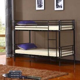 Amazing Kids' Offer ! New Single Metal Bunk Bed - Same / Next Day - Mattress Option -