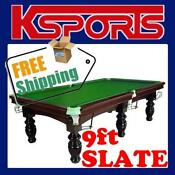 Slate Pool Table 9ft