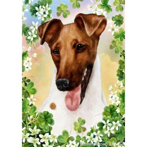 Clover Garden Flag - Brown Smooth Fox Terrier 311621