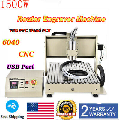 Usb 6040 3axis Engraver 1500w Spindle Motor Cnc Router Drill Engraving Machine