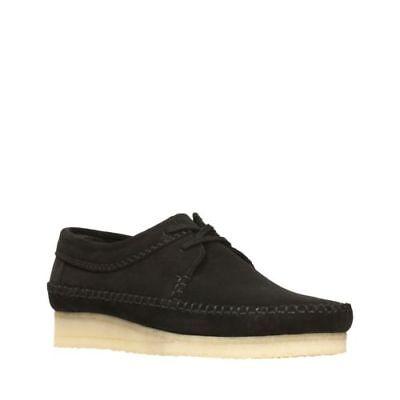 Clarks Originals Men's Wallabee Weaver Shoes Black Suede Style # 26133284 ()