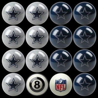 NFL Dallas Cowboys Pool Ball Billiards Balls Set w/ FREE Shipping Dallas Cowboys Nfl Billiard Balls