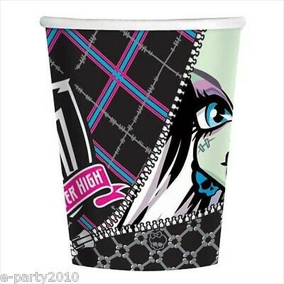 Monster High 9Oz Paper Cups  8    Birthday Party Supplies Beverage Drinking