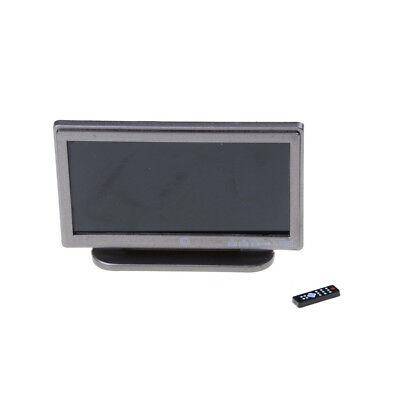 1:12 Doll House Miniature Widescreen Flat Panel LCD TV Remote Gray Home Decor Ex
