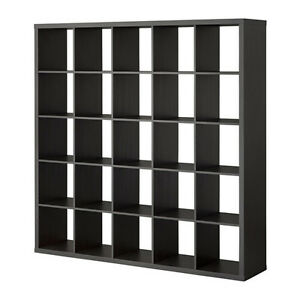 IKEA Kallax black-brown shelf unit