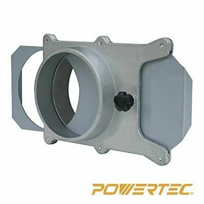 Powertec 70135 4-inch Aluminum Blast Gate For Vacuumdust Collector