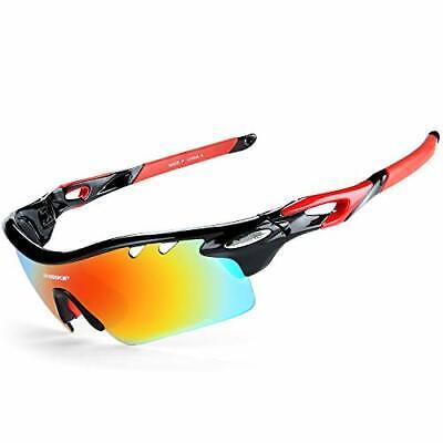 Gafas De Sol Polarizadas para Ciclismo con 5 Lentes (Negro)
